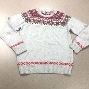 Boden Wool colorful sweater, gray size 8